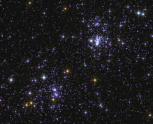 Double Cluster from BMV Observatories